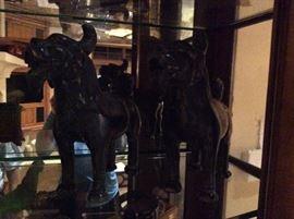Pair of Bronze Fu Dogs