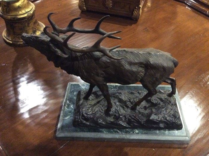 Bronze elk