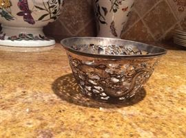 Wang Hing Dragon Bowl Sterling Silver - Chinese Antique
