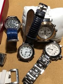 Watches Cartier, Rolex, weil, omega