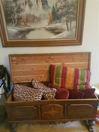 Old cedar chest..now $97.50