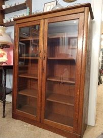 Antique oak book case