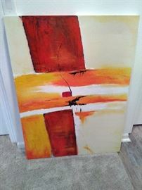 Abstract Painting on Canvas  https://www.ctbids.com/#!/description/share/9171