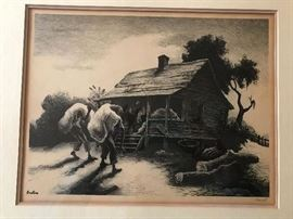 Thomas Hart Benton lithograph —pencil signed