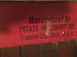 Antique potato planter Traverse City company