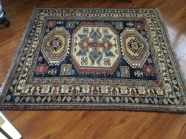 Hand-made 100% wool Oriental rug, made in Pakistan