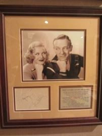 FRED ASTAIRE & GINGER ROGERS SIGNED AND FRAMED PHOTO