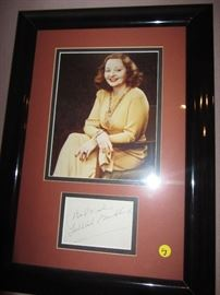 TALULLAH BANKHEAD SIGNED