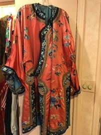 "FANTASTIC VINTAGE CHINESE ROBE WITH THE ""FORBIDDEN STITCH"""