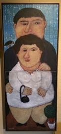 """Andrei Karpov """"Double Portrait"""" Oil - 1991"""