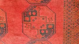 "Afghan Turkman Rug - 1930's,  8'8"" x 11'3"" (close up shot)"