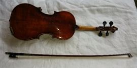 Rare Anton Schroetter Violin and Bow