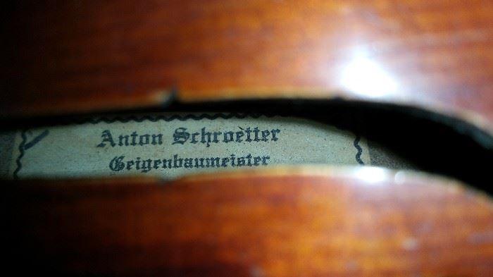 Anton Schroetter Violin Tag