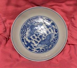 Imperial Kangxi mark and period dish