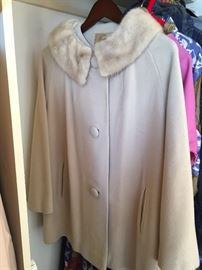 Vintage Scott of Ventura coat. Mink collar