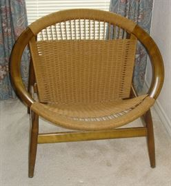 "Mid-Century Modern Illum Wikkelso ""Ringstol"" Chair - Danish design from the 1960's"