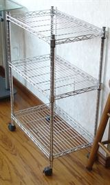 Stainless cart with shelves
