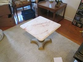 Pair of Marble Coffee Tables