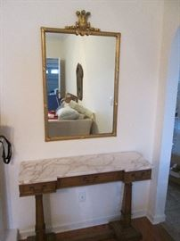 Marble Top Console / Sofa Table