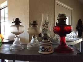 vintage oil lamlps