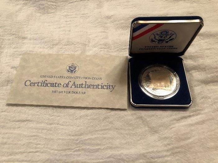 90% Silver 1987 US Constitution Coin