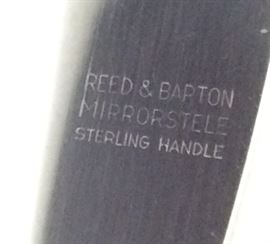 Detail of the Reed & Barton dinner and luncheon knives.