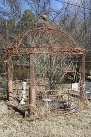 Fantastic Antique Metal Gazebo Beautiful Piece of Antique architecture!