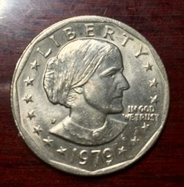 1979 Susan B. Anthony coin.