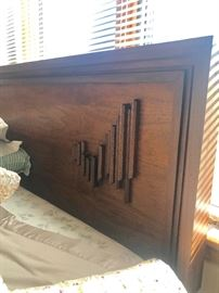 MCM Headboard - Brutalist.  Super cool and hard to find!