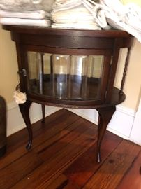 Interesting round-fronted side table