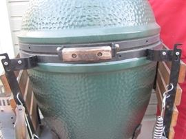 "The ""Green Egg"", amazing for grilling and smoking meats."