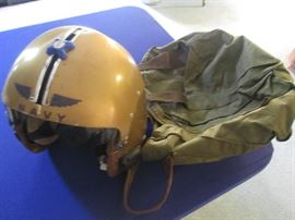 Navy Helmet and Bag
