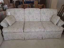Sofa and Love Seat by Broyhill, pale floral upholstery.  Very good condition