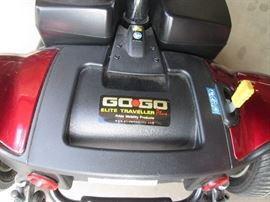 "Model ""Go-Go Elite Traveller Plus"".  Disassembles into 4 pieces for easy transport."