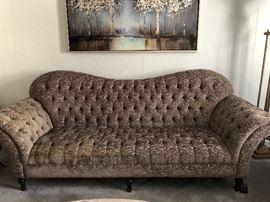 Arhaus club tufted upholstered sofa