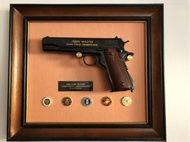 Franklin Mint John Wayne Armed Forces Commemorative Colt 45 Non Firing Replica