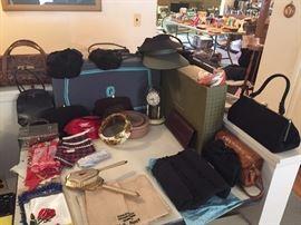 Hudson's Boxes, Vintage ladies Hats and Purses