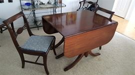 ANTIQUE DINING SET - 6 CHAIRS