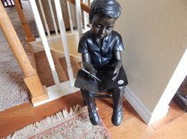 Metal statue