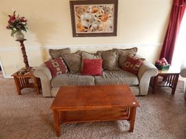 Modern Couch with matching Love seat, Chair, and Ottoman