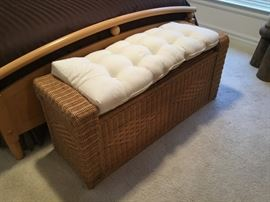Ethan Allen wicker trunk