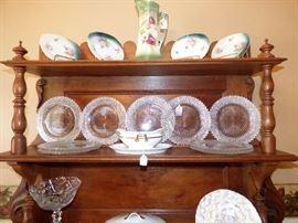 Miss America Vintage Salad plates, Chocolate Pot,