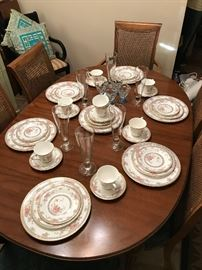 "8 piece place setting of Royal Doulton china in the ""Canton"" pattern in excellent condition."