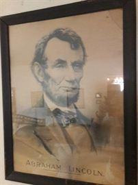 Abraham Lincoln Chrono Lithograph