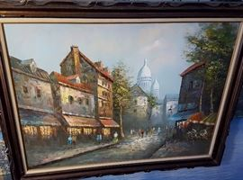 Large framed, signed oil