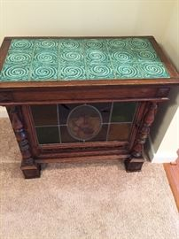 LIGHTED TILE COVERED DISPLAY CABINET
