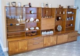 Mid-century teak Meredew wall shelf units
