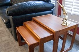 Mid-century, Made in Denmark, nesting tables