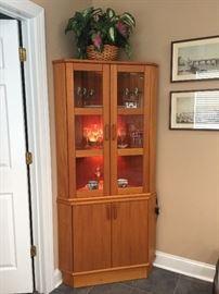 Mid-century teak Mobler, Made in Denmark, corner cabinets
