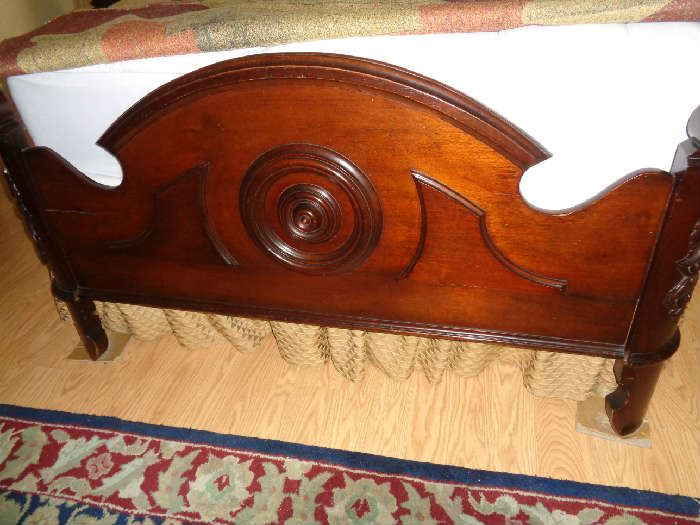 foot board of bed, we have the original side rails